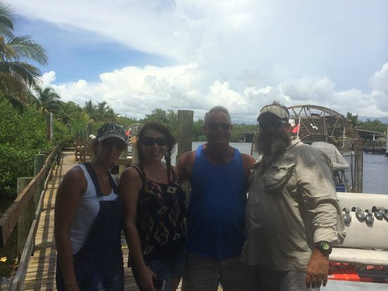 Captain Jack's Airboat Tours : The crew with our captain