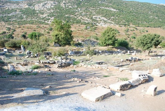 Ruins of the State Agora at the beginning of the Ephesus Tour.