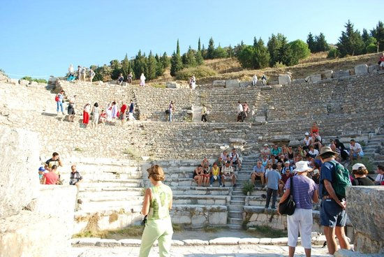 The Odeion : The smaller of two Ephesus theaters.