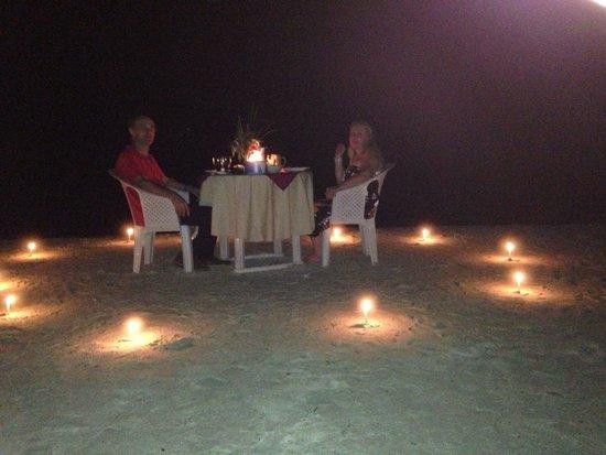 Symphony Palms Beach Resort Candle Light Dinner