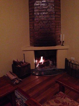 Hacienda La Cienega: Private chimney in the room!
