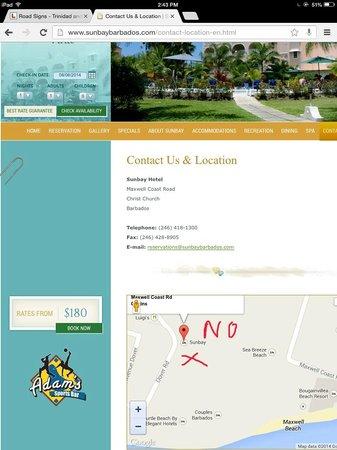 Sunbay Hotel : Advertised Location