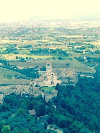 Basilica inferiore di San Francesco d'Assisi: Vista dalla Rocca Maggiore