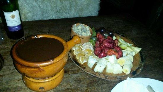 Fornellone: Fondue de chocolate