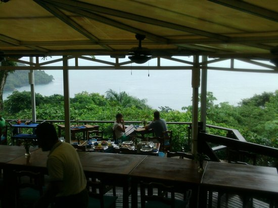 Tulemar Bungalows & Villas: View of bay from the on-site restaurant