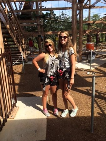 Natural Bridge Caverns: ready to zipline