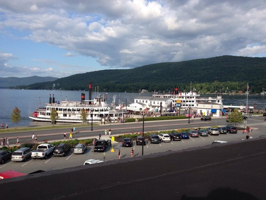 The Fort William Henry Museum & Restoration: View of Lake George from Fort