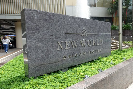 New World Saigon Hotel: The sign in front