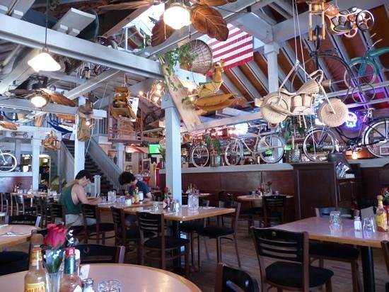 Rosie's Cafe: eclectic display of bikes