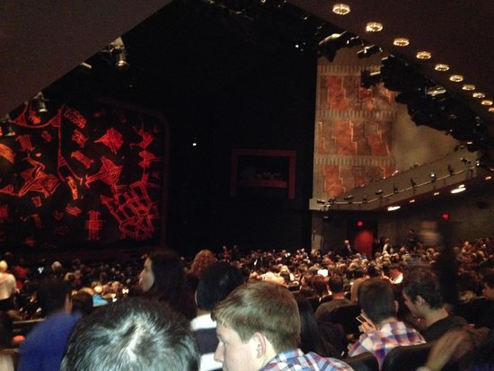 The Lion King : inside... see how far our seats are?