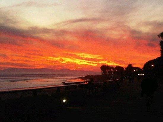 Beautiful sunset view from Aloha Steakhouse