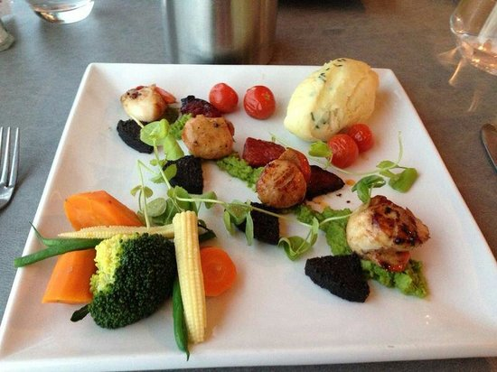 An Lanntair: Scallops with black pudding and chorizo.