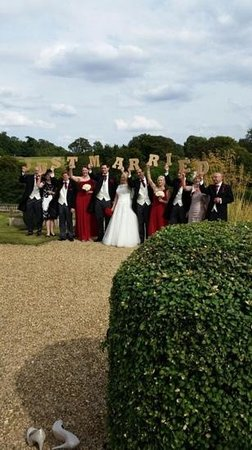 Just Married at Stoke Rochford Hall