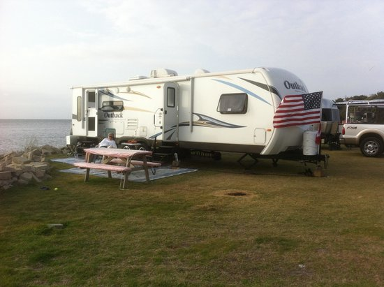 Frisco Woods Campground: Soundside Site