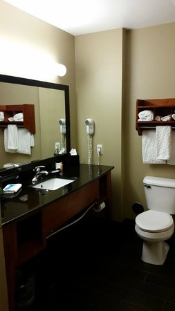 La Quinta Inn & Suites North Platte: Large bathroom