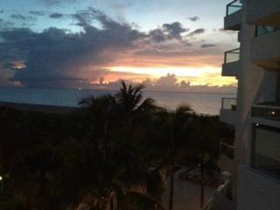 Sunrise from Marriott Stanton South Beach room