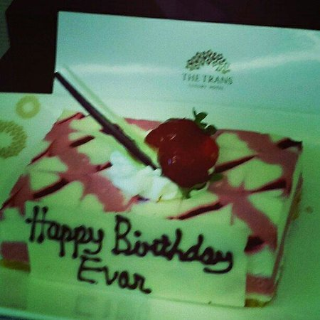 The Trans Luxury Hotel Bandung: Thanks for your hospitality and little birthday suprise for my son