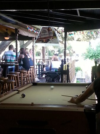 Three Birds Tavern: Outside Bar And Pool Table.