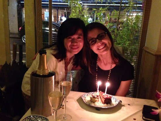 Bangkok Brasserie: Birthday with the lovely staff