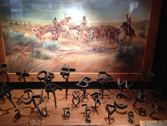 Boot Hill Museum : Cattle brands displayed in the museum