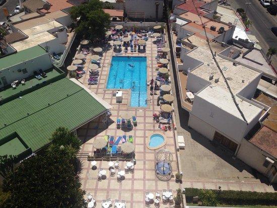 Globales Condes de Alcudia: Pool veiw from top floor