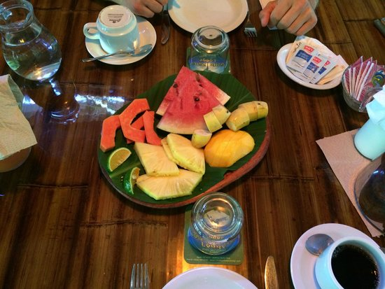 Golfo Dulce Lodge : Fruchtplatte zum Frühstück