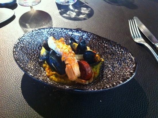 Restaurant Jardin: Lunch bijgerecht: paella met langoustine