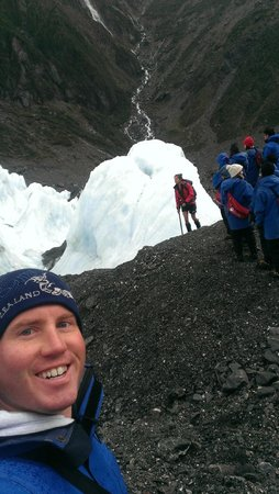Franz Josef Glacier Guides: Forcing a smile, this is a glacier?
