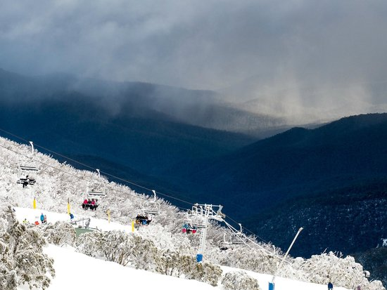 Mt Buller: Some clouds on the Southern Side