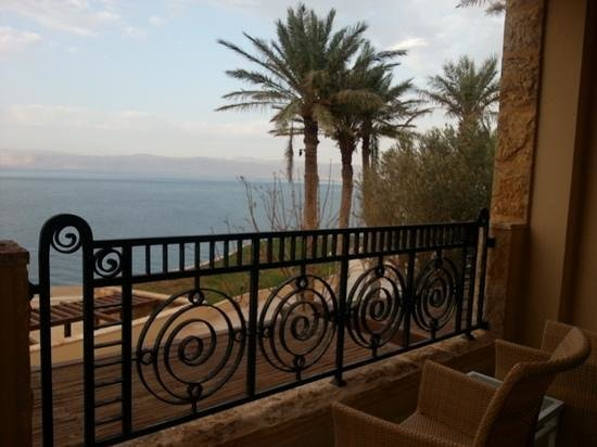 Kempinski Hotel Ishtar Dead Sea: The view from the deluxe room.