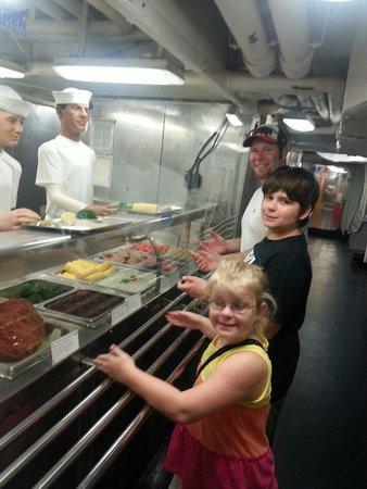 USS LEXINGTON: Cafeteria line