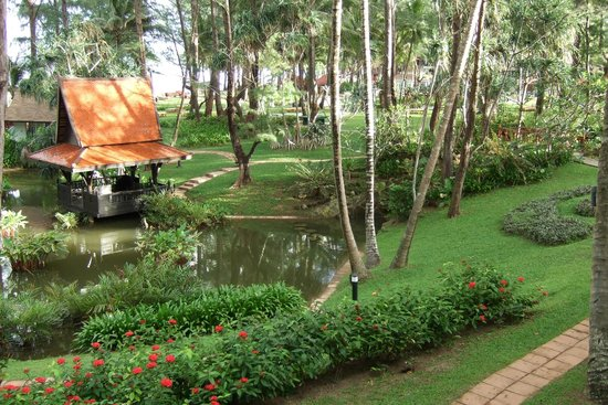 Part of landscaped gardens at Dusit Thani Laguna Phuket