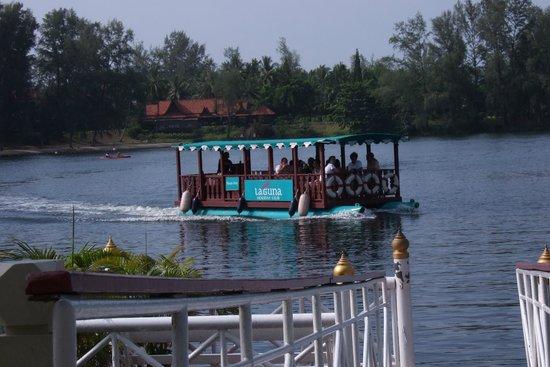 Dusit Thani Laguna Phuket: Lagoon ferry shuttle service, (with Ruen Thai Restauarant in background)