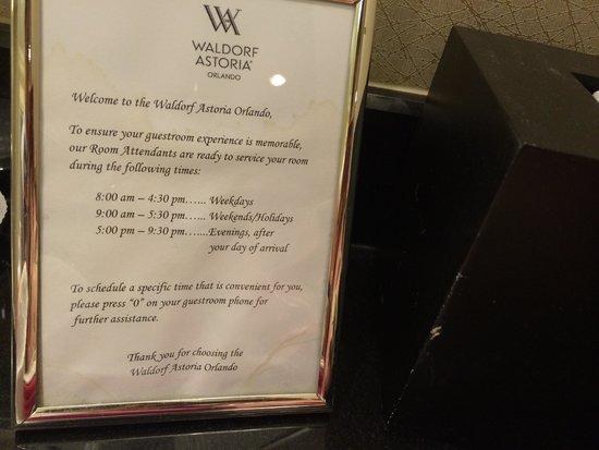Waldorf Astoria Orlando: More of the same