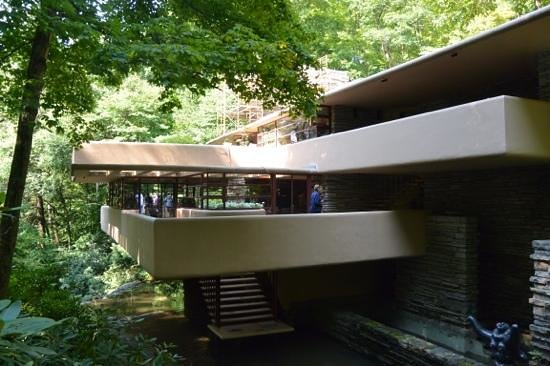 Fallingwater: Cantilever Balcony Over Waterfall Part 37