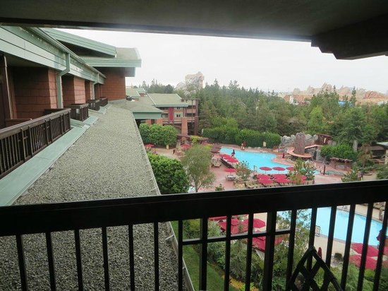 Disney's Grand Californian Hotel & Spa: View from room 6208