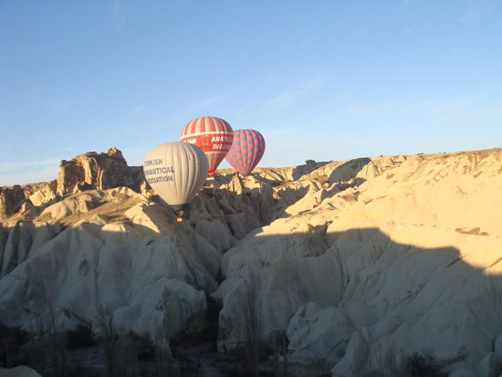 Goreme Balloons: just next to the underground houses