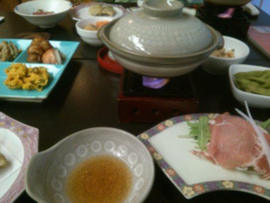 Yunoyado Rakusan: 夕食