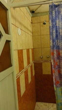 Dragonfly Hostels Cusco : Another view of the bathroom entrance via shower.