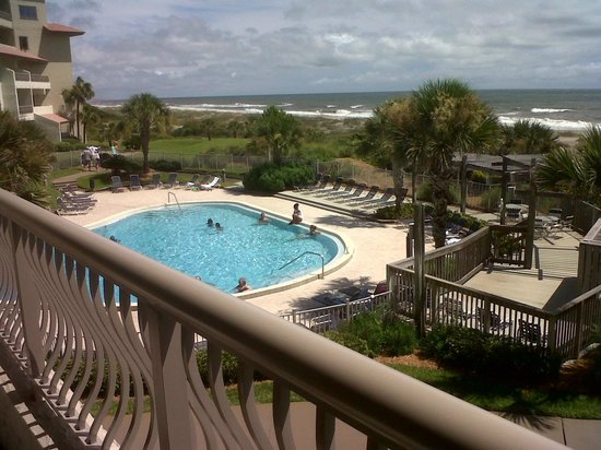 view from second balcony room 171 picture of omni. Black Bedroom Furniture Sets. Home Design Ideas