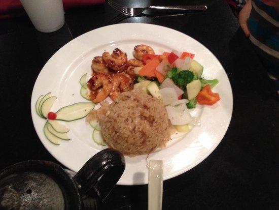 Fuji Sushi and Steak House: Children's habachi shrimp