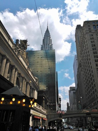 Grand Hyatt New York: O hotel é ao lado da Grand Central e o Chrysler Building