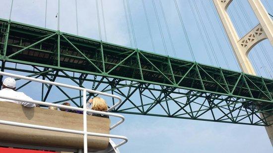 Star Line Mackinac Island Hydro-Jet Ferry: Going under the bridge