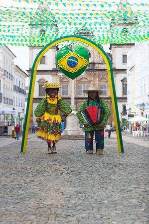 The vibrant streets of Pelourinho.