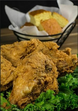 Corner Stable: gigantic chicken breasts from the catering menu