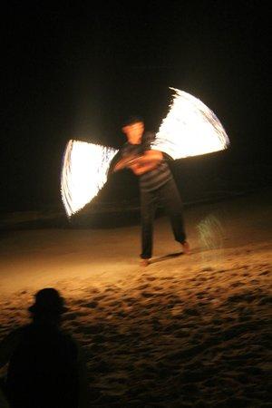 Bananarama Beach and Dive Resort: fire dancer