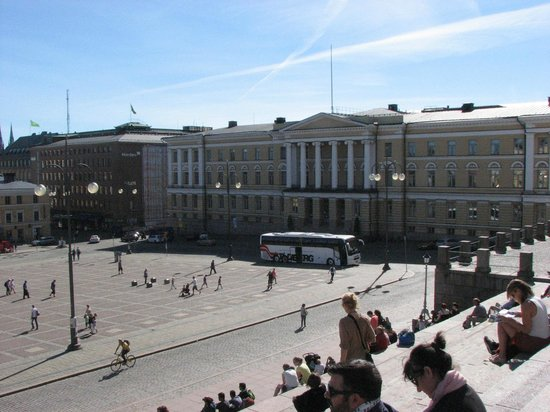 Plaza del Senado: Looking around at Senate Square from top