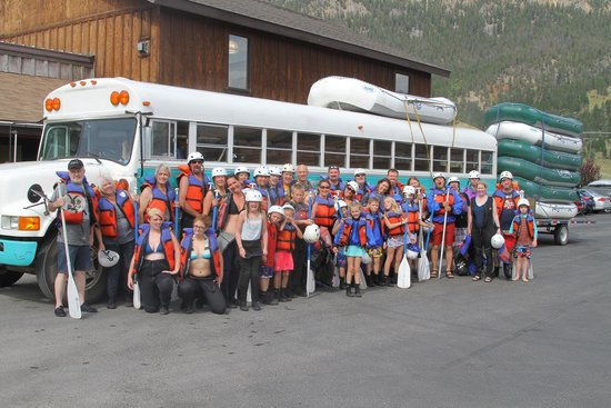 Geyser Whitewater Expeditions: Group photo, post rafting