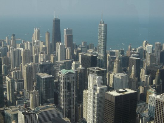 Skydeck Chicago - Willis Tower : A view