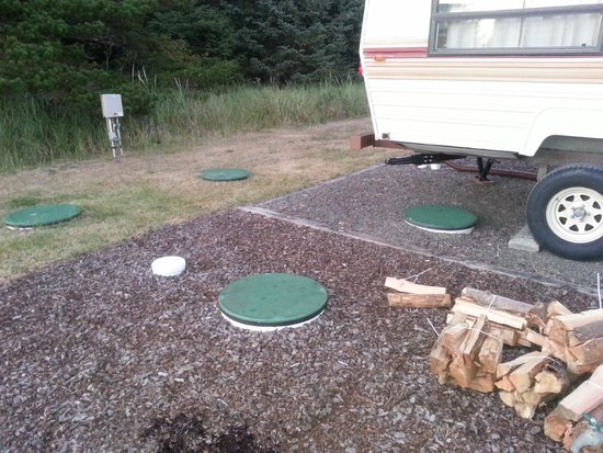 Andersen's RV Park: RV site over the septic system
